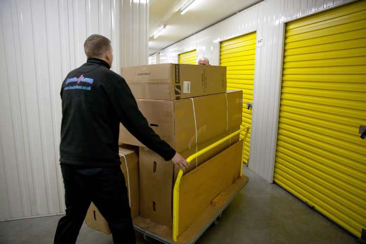 big Yellow Self storage with Loads4less removals in Norwich