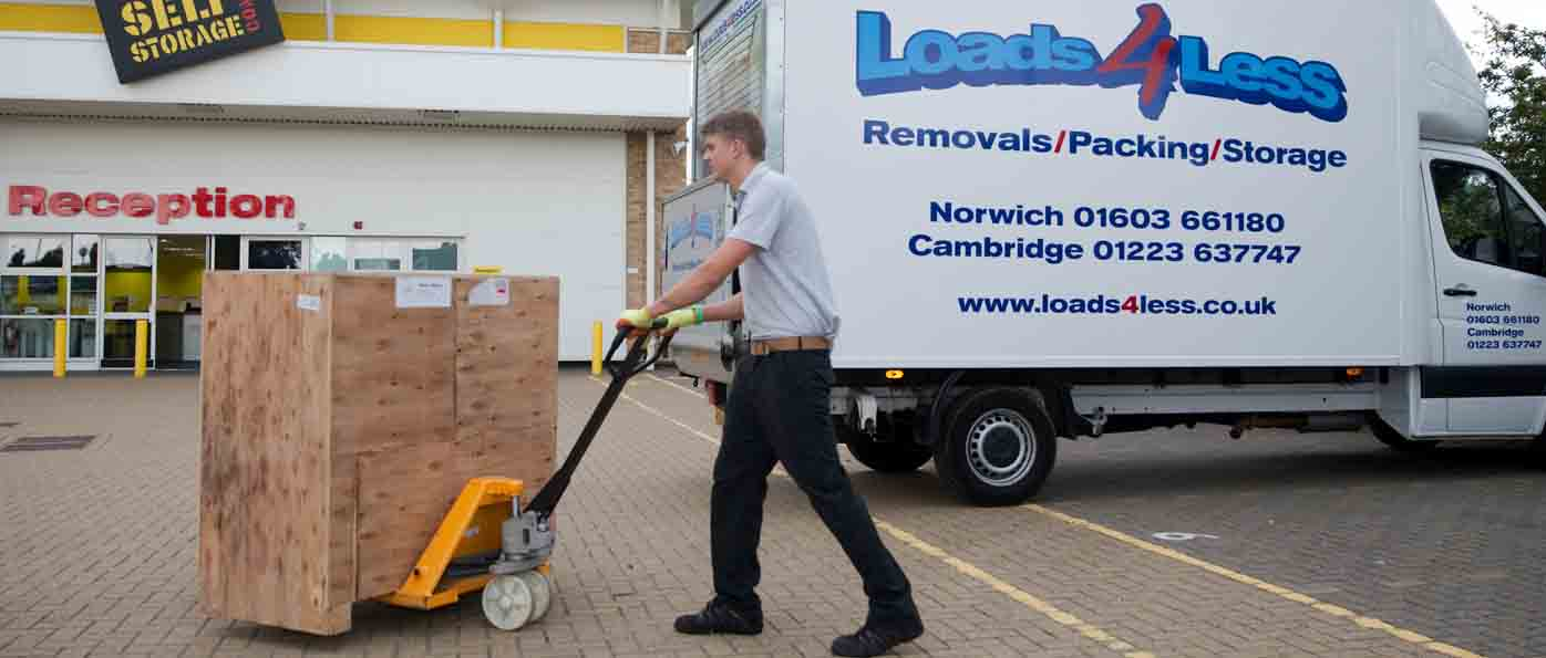secure storage in Norwich with Loads4less at The Big Yellow